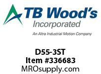 TBWOODS D55-3ST STEEL HUB ROUGH BORE