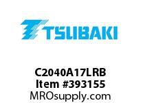 US Tsubaki C2040A17LRB C2040 RIV 7L/A-1