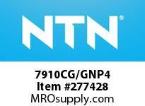 NTN 7910CG/GNP4 PRECISION BALL BRG
