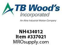 TBWOODS NH434012 NH4340X1/2 FHP SHEAVE
