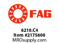 FAG 6210.C4 RADIAL DEEP GROOVE BALL BEARINGS