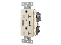 HBL_WDK USB20A5LA RCPT DUP 20A 125V 5A 5V USB PORT A LA