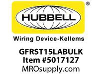 HBL_WDK GFRST15LABULK 15A COM SELF TEST GFR LT ALMOND BULK