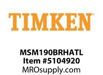 TIMKEN MSM190BRHATL Split CRB Housed Unit Assembly