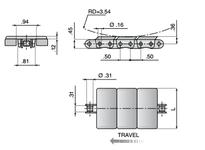 System Plast 11517G XPG843-K138 SYS CHAIN STEEL 2 PC