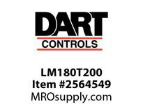 Dart LM180T200 2 HP 180 volt motor drilled and taped