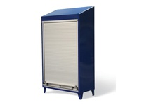 StrongHold RU-15532 Roll-Up Door Cabinet with Slope Top 60x24x72 4 Shelves