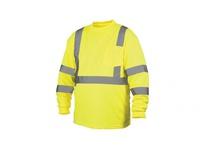 Pyramex RLTS3110X4 Hi-Vis Lime Long Sleeve T-Shirt - Size 4X Large