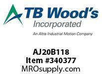 TBWOODS AJ20B118 AJ20-BX1 1/8 FF COUP HUB
