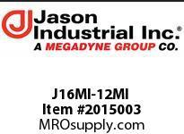 Jason J16MI-12MI ADAPTOR MALE JIC X MALE JIC