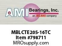 AMI MBLCTE205-16TC 1 STAINLESS NAR SET SCREW TEFLON 2- SINGLE ROW BALL BEARING