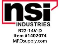 NSI R22-14V-D 22-18 AWG VINYL INSULATED RING 1/4^ STUD - DISPLAY PACK