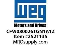 WEG CFW080026TGN1A1Z CFW08 PLUS 1HP 460V 3Ph VFD - CFW
