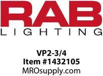 RAB VP2-3/4 VAPORPROOF 200 PENDANT 3/4 LESS GLOBE