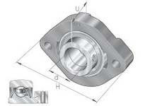 INA FLCTE17 Two-bolt oval flanged unit