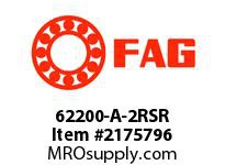FAG 62200-A-2RSR RADIAL DEEP GROOVE BALL BEARINGS