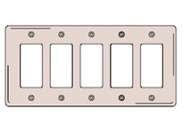 HBL-WDK NP265GY WALLPLATE 5-G 5) RECT GY