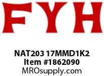 FYH NAT203 17MMD1K2 TAKE UP UNIT-NORMAL DUTY ECCENTRIC COLLAR-HIGH TEMP CONTACT