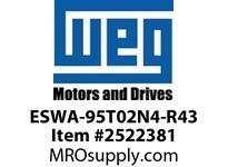 WEG ESWA-95T02N4-R43 FVNR 30HP/230V T-A 4 T02 Panels