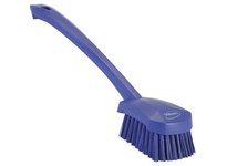 REMCO 41868 Vikan Scrub Brush Long Handle Brush- Stiff- Purple