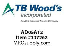 TBWOODS AD05A12 AD05-AX1/2 FF COUP HUB