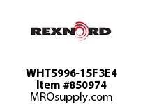 REXNORD WHT5996-15F3E4 WHT5996-15 F3 T4P N2.5625 WHT5996 15 INCH WIDE MATTOP CHAIN W