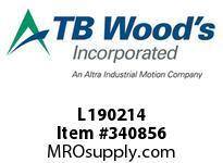 TBWOODS L190214 L190X2 1/4 L-JAW HUB