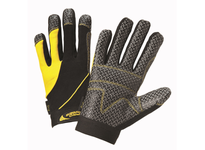 West Chester 86650/M Box Handler - Neoprene Velcro Wrist Spandex Back Padded Knuckles Palm Patches with Silicone Grip Reinforced Fingertips with Silicone Grip Synthetic Leather Thumb Saddle Terry Cloth Thumb woven logo to protect inv