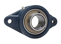 FYH UCFL207ENP 35MM ND SS 2 BOLT FLANGE UNIT - NICKEL