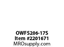 PTI OWFS206-17S 2-BOLT FLANGE BEARING-1-1/16 OWFS 200 SILVER SERIES - NORMAL DUT