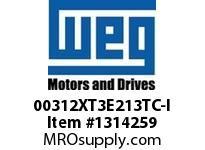 WEG 00312XT3E213TC-I 3HP 1200 60 208-230/460 XP - Nema Pr