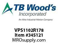 TBWOODS VPS1102R178 VPS-110-2RX1 7/8 ADJ SHEAVE
