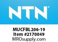 NTN MUCFBL206-19 Mounted Units (Plastic)