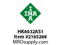 INA HK6032AS1 Drawn cup needle bearing