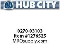 HubCity 0270-03103 RM3C-2.964-210TC-180TC