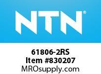 NTN 61806-2RS SMALL SIZE BALL BRG(THIN)