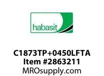 "Habasit C1873TP+0450LFTA 1873 Tab 4.5"" Top Plate Low Friction Acetal"