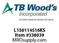 TBWOODS L150114516KS L150X1 1/4 5/16KW L-JAW HUB