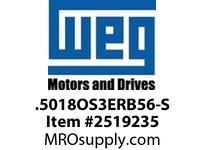 WEG .5018OS3ERB56-S 1/2HP 1800 3 60 208-230/460 Nema 56 ODP