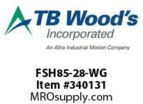 TBWOODS FSH85-28-WG CPLG FSH85-27 WG STL HYREM