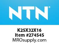 NTN K25X32X16 N.R. & CAGE ASSY(SOLID CAGE)