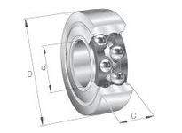 INA LR5307KDD Yoke type track roller