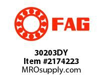 FAG 30203DY METRIC TAPERED ROLLER BEARINGS