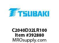 US Tsubaki C2040D32LR100 C2040 RIV 2L/D-3 100