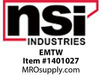 NSI EMTW TWIN HEAD EMERGENCY LIGHT WHITE HOUSING 120/277V.