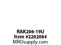 PTI RAK206-19U PILLOW BLOCK BEARING-1-3/16 RAK 200 SILVER SERIES - NORMAL DUTY