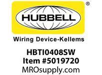 HBL_WDK HBTI0408SW WBPRFRM RADI INTER4Hx8WPREGALVSTLWLL