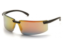 Pyramex SB6145S Black Frame/Ice Orange Mirror Lens