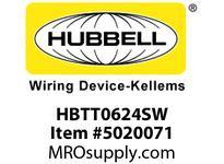 HBL_WDK HBTT0624SW WBPRFRM RADI T 6Hx24W PREGALVSTLWLL