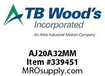 TBWOODS AJ20A32MM AJ20-AX32MM FF COUP HUB